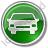 Car Circle Green Icon, PNG/ICO, 48x48