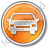 Car Circle Orange Icon, PNG/ICO, 48x48