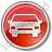 Car Circle Red Icon, PNG/ICO, 48x48