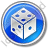 Casino Dice Circle Blue Icon