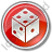 Casino Dice Circle Red Icon