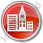 City Circle Red Icon