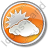 Cloudy Partly Circle Orange Icon, PNG/ICO, 48x48