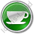 Cup Circle Green Icon, PNG/ICO, 48x48