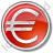 Currency Euro Circle Red Icon