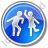 Dancing Circle Blue Icon