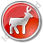 Deer Circle Red Icon