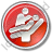 Dentist Treatment Circle Red Icon, PNG/ICO, 48x48