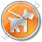 Dog Circle Orange Icon