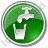 Drinking Water Tap Circle Green Icon, PNG/ICO, 48x48