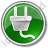 Electricity Power Plug Circle Green Icon