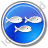 Fish Hatchery Circle Blue Icon, PNG/ICO, 48x48