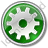 Gear Circle Green Icon, PNG/ICO, 48x48