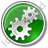 Gears Circle Green Icon, PNG/ICO, 48x48