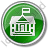 Government Facility Circle Green Icon