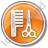 Hair Salon Circle Orange Icon