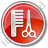 Hair Salon Circle Red Icon