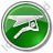 Hang Gliding Circle Green Icon