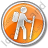 Hiking Circle Orange Icon