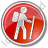 Hiking Circle Red Icon