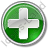 Hospital Cross Circle Green Icon