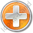 Hospital Cross Circle Orange Icon