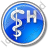 Hospital Rod Of Asclepius Circle Blue Icon, PNG/ICO, 48x48