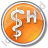 Hospital Rod Of Asclepius Circle Orange Icon