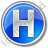 Hotel H Circle Blue Icon, PNG/ICO, 48x48