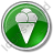 Ice Cream Circle Green Icon, PNG/ICO, 48x48