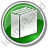 Library Book 3D Circle Green Icon