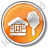 Lodge Circle Orange Icon, PNG/ICO, 48x48