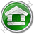 Log Cabin Circle Green Icon