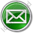 Mail Envelope Circle Green Icon, PNG/ICO, 48x48
