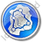Map Roads Circle Blue Icon