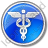 Medicine Caduceus Circle Blue Icon, PNG/ICO, 48x48