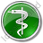 Medicine Rod Of Asclepius Circle Green Icon
