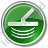 Metal Detector Circle Green Icon