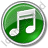 Music Circle Green Icon