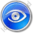 Observation Circle Blue Icon