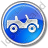 Off Road Vehicle Circle Blue Icon, PNG/ICO, 48x48