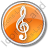 Orchestra Circle Orange Icon, PNG/ICO, 48x48