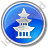 Pagoda Circle Blue Icon, PNG/ICO, 48x48