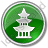 Pagoda Circle Green Icon, PNG/ICO, 48x48