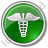 Pharmacy Caduceus Circle Green Icon, PNG/ICO, 48x48