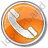 Phone Circle Orange Icon, PNG/ICO, 48x48