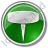 Pin Circle Green Icon, PNG/ICO, 48x48