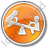 Playground Kids Circle Orange Icon