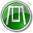Playground Swing Circle Green Icon, PNG/ICO, 48x48