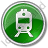 Railway Station Circle Green Icon, PNG/ICO, 48x48